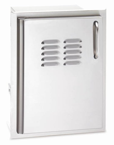 "American Outdoor Grill Single Access Door Left Hand Open w/ Tank Tray & Louvers - 20"" x 14"""