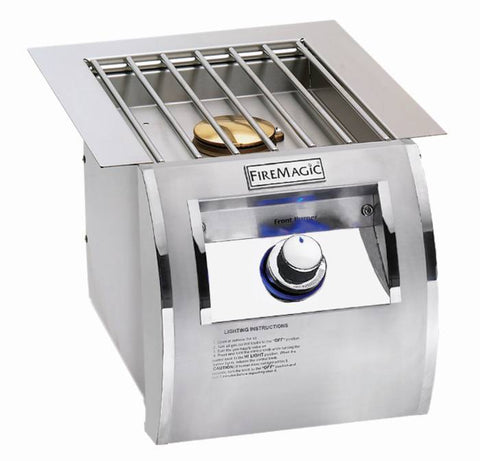 Fire Magic Echelon Diamond Series Built-In Single Side Burner - Natural Gas - Yardandpool.com
