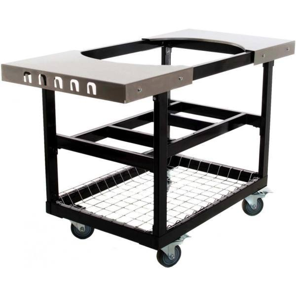 Primo Grills Cart W Stainless Steel Side Tables For Oval Large 300 And Oval Xl 400 By Primo Grills Smokers