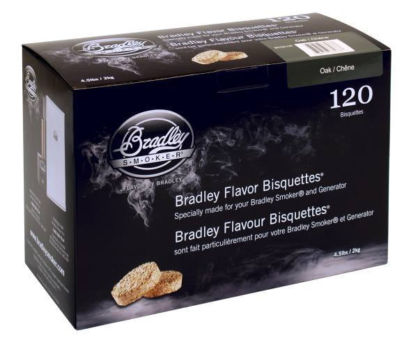 Bradley Smoker Bisquettes 120 Pack - Oak