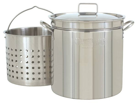 Bayou Classic 36 Quart Stainless Steel Stockpot w/ Lid & Basket