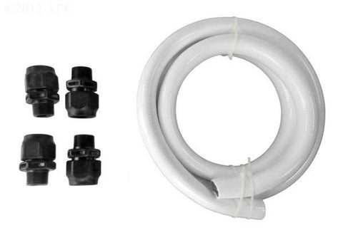 Hose Kit, inc. Plastic Fittings(2) & 6' hose, White