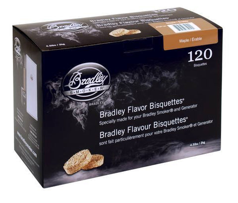 Bradley Smoker Bisquettes 120 Pack - Maple