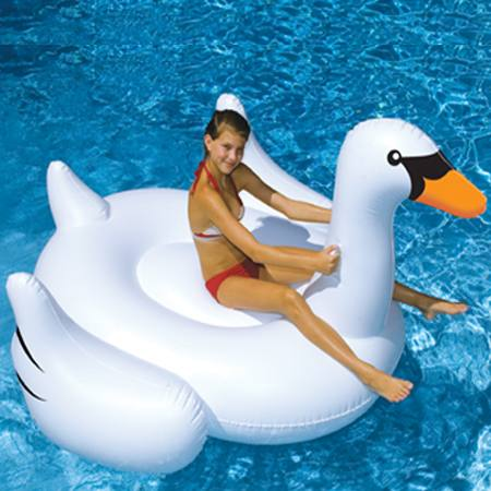 Giant Swan Swimming Pool Float