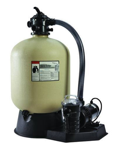 "Pentair 19"" Sand Dollar Filter with 1.5 HP Dynamo Pump 3' Twist Lock Cord - Yardandpool.com"