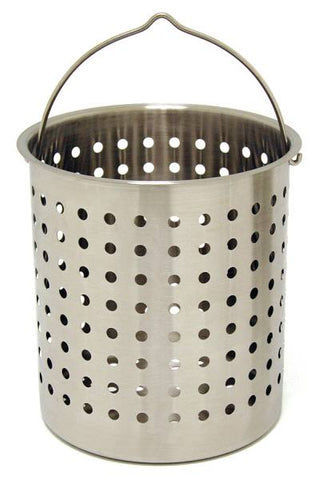 Bayou Classic 44 Quart Stainless Steel Perforated Basket