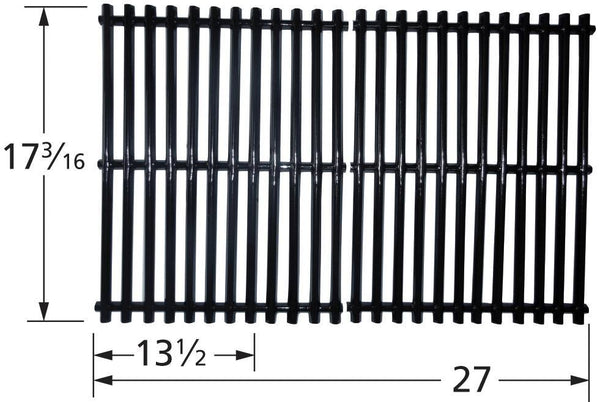 Music City Metals Porcelain Steel Channel Grill Cooking Grid 59812