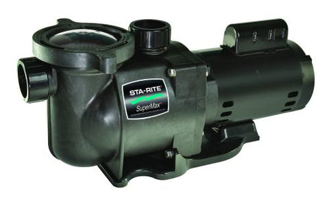Sta-Rite SuperMax Standard Efficient Single Speed Full Rated Pool Pump - 1 HP