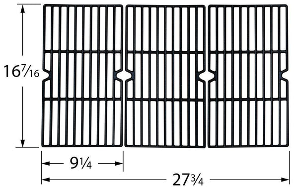 Music City Metals Matte Cast Iron Grill Cooking Grid 61613