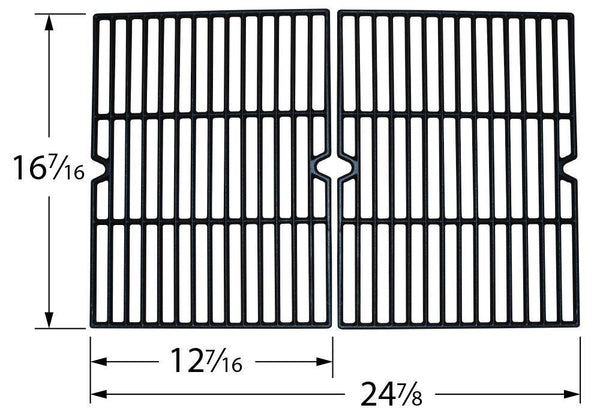 Music City Metals Matte Cast Iron Grill Cooking Grid 61622