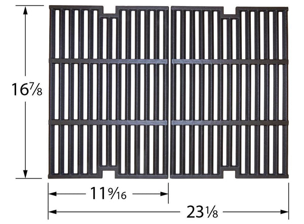 Music City Metals Matte Cast Iron Grill Cooking Grid 64042
