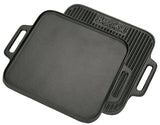 Bayou Classic Cast Iron Reversible Square Griddle