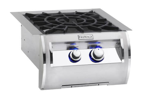 Fire Magic Echelon Diamond Series Built-In Power Burner w/ Porcelain Cast Iron Grid - Natural Gas - Yardandpool.com