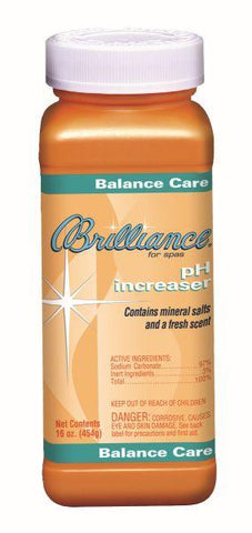 Brilliance for spas pH Increaser with Mineral Salts - 16 oz