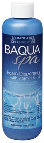 Baqua Spa Chemicals - Foam Disperser w/ Vitamin E 16 oz - Yardandpool.com