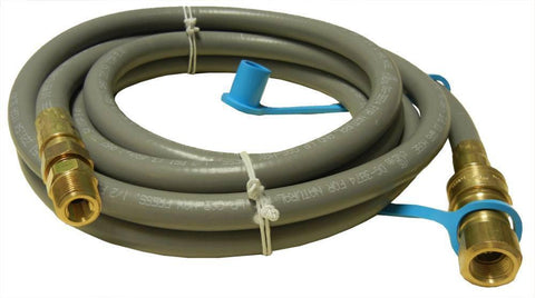 "Music City Metals Grill 10' 0.375"" Dia. Natural Gas Hose With Quick-Connect Fitting 80120"