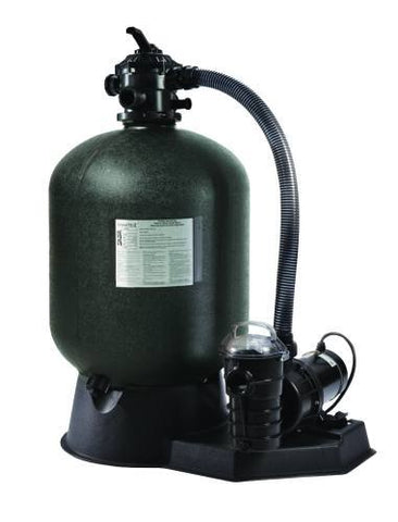 "Sta-Rite 19"" Cristal-Flo II Sand Filter System with 1 HP Dynamo Pump 3' Twist Lock Cord"