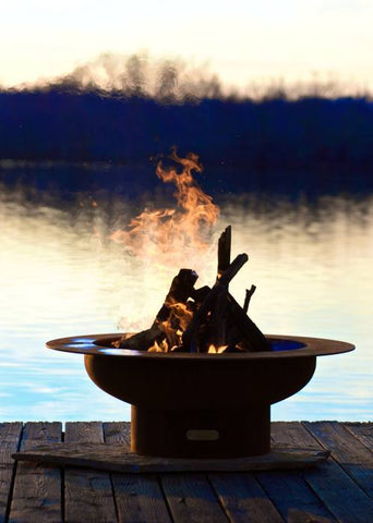 "Fire Pit Art Saturn 40"" Wood Burning Outdoor Fire Pit"