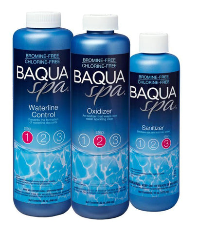Baqua Spa Chemicals - Introductory 3 Part System Pack