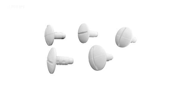 Wheel Screw, Plastic, 5/pk