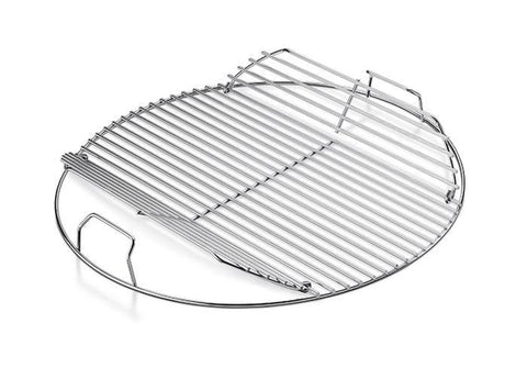 "Weber Replacement Hinged Cooking Grate for 18"" Kettle Grill - Yardandpool.com"