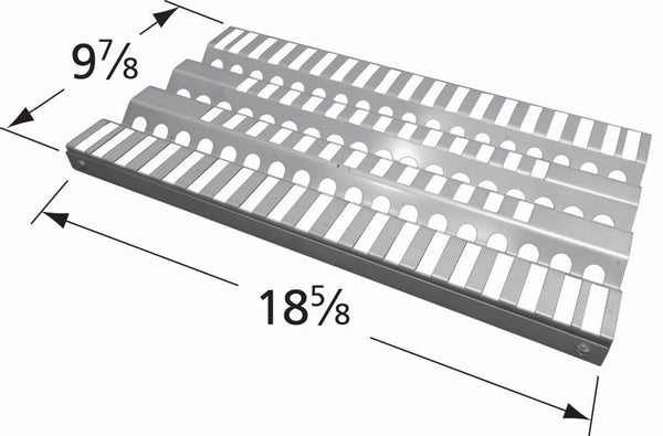 Music City Metals Stainless Steel Grill Heat Plate 92911