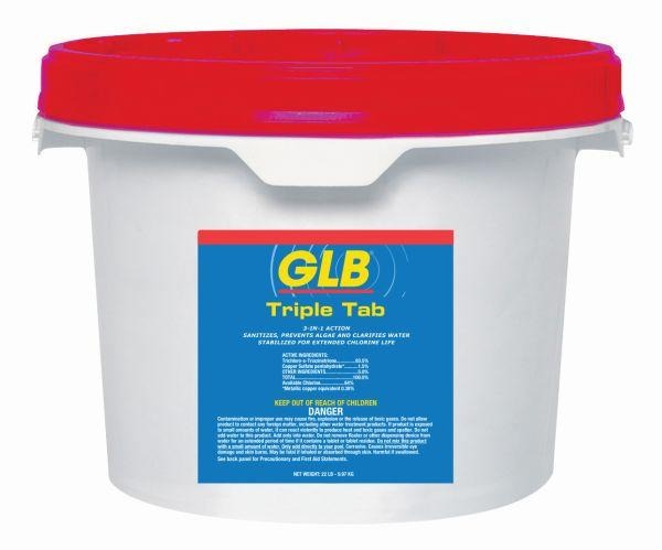 GLB Triple Tab Chlorinating Tablets - 22.5 lbs