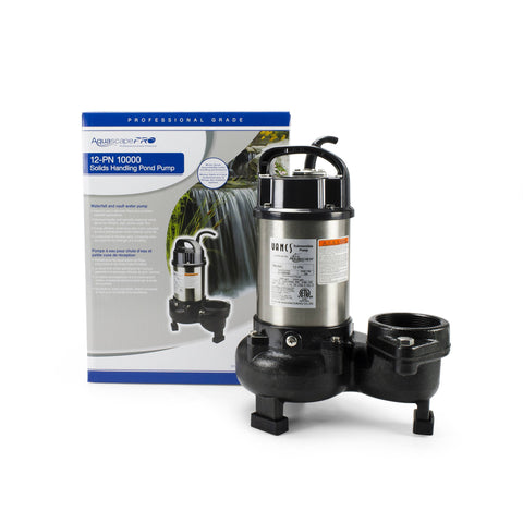 Aquascape 12-Pn 10,000 Solids-Handling Pond Pump 30391 - Yardandpool.com