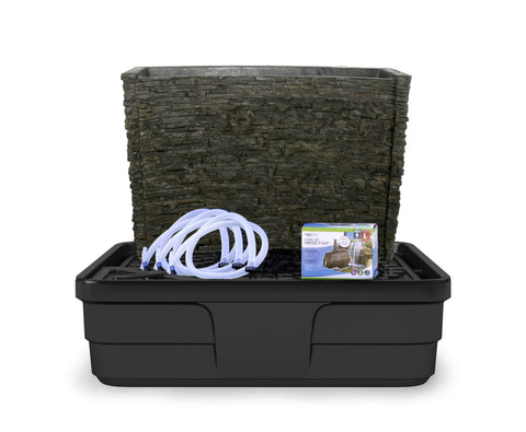 "Aquascape Stacked Slate Spillway Wall 32"" Landscape Fountain Kit 78269"