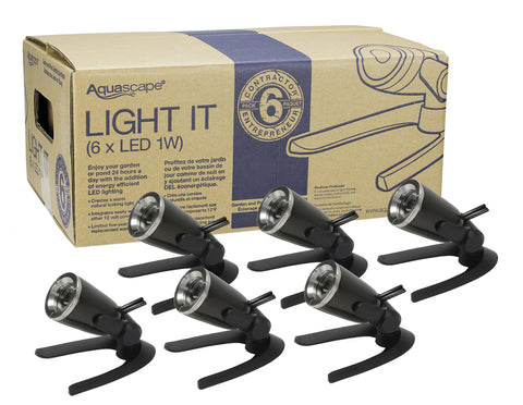 Aquascape Garden And Pond 1-Watt Led Spotlight 6-Pack 84045 - Yardandpool.com
