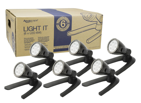 Aquascape Garden And Pond 6-Watt Led Spotlight 6-Pack 84048 - Yardandpool.com
