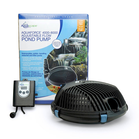 Aquascape Aquaforce 4000-8000 Adjustable Flow Solids-Handling Pond Pump 91104 - Yardandpool.com