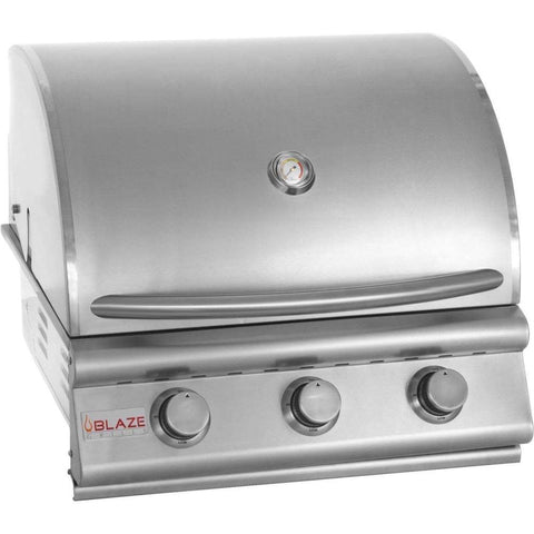 "Blaze 25"" 3-Burner Built-In Gas Grill - Yardandpool.com"