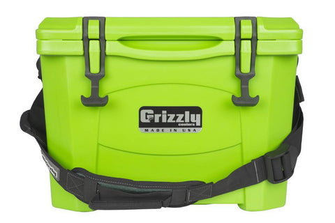 Grizzly 15 Cooler - Lime Green - Yardandpool.com