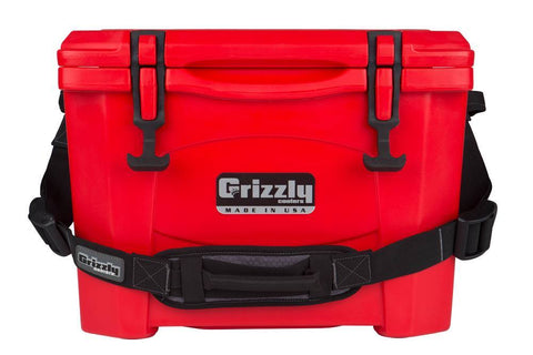 Grizzly 15 Cooler - Red - Yardandpool.com