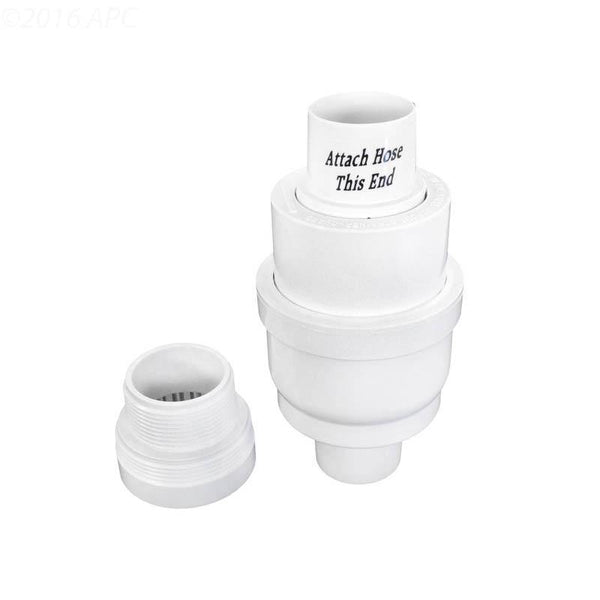 Automatic Regulator Valve & Cap, White