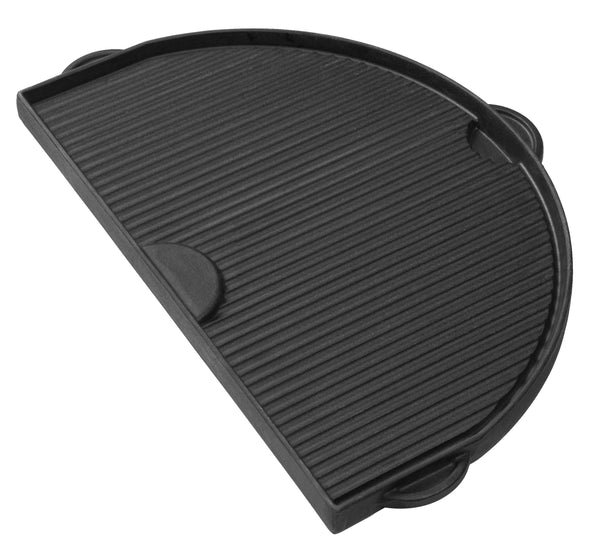Primo Grills Half Moon Cast Iron Griddle for Oval JR 200 Grill