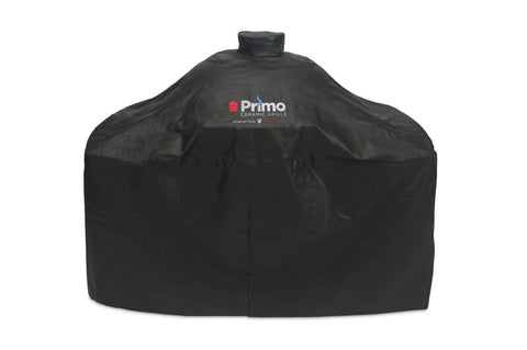 Primo Grill Cover for Oval XL 400 in Cart with SS Side Tables or Cypress Compact Table, Oval LG 300 in Cart with SS Side Tables, Oval JR 200 in Cypress Table