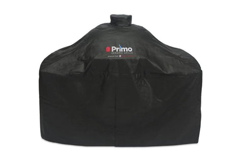 Primo Grill Cover for Oval XL 400 and Oval LG 300 on Cart with Island Top