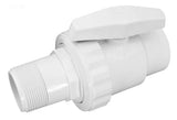 "2 way ball valve, ABS, 1.5"" FPT x 1.5"" MPT, white"