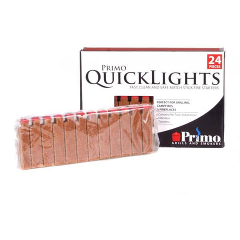 Primo Grills Quick Lights Fire Starters - 24 Per Pack