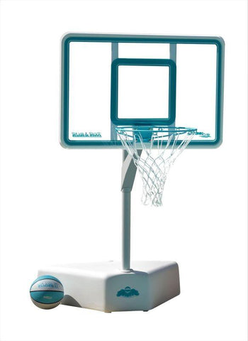 Splash and Shoot Portable Swimming Pool Basketball Hoop - Clear