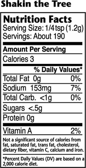 Dizzy Pig Shakin The Tree Nutritional Information