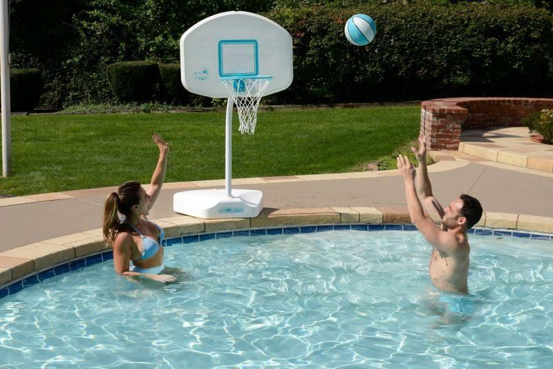 Junior Hoop Portable Swimming Pool Basketball Hoop - Stainless Steel ...