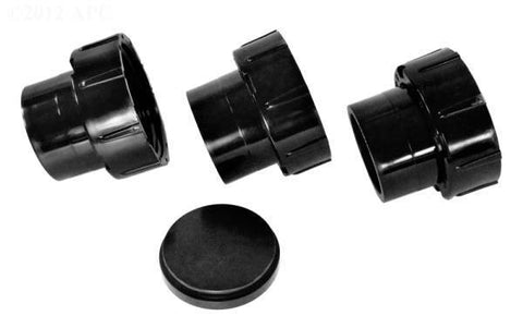 "Tailpiece, Cap and Union Nut Set, 2""x2-1/2"", set of 3"