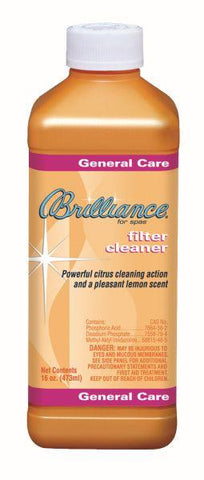 Brilliance for spas Filter Cleaner with Fresh Lemon Scent - 16 oz