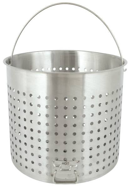 Bayou Classic 142 Quart Stainless Steel Full Size Perforated Boiling Basket