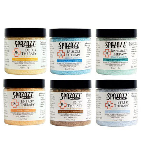 Spazazz RX Therapy Crystals 6 Pack Assortment - 4 oz each