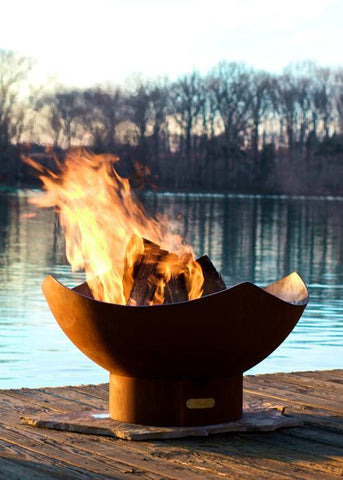 "Fire Pit Art Manta Ray 36"" Wood Burning Outdoor Fire Pit"