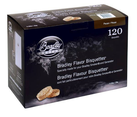 Bradley Smoker Bisquettes 120 Pack - Pecan